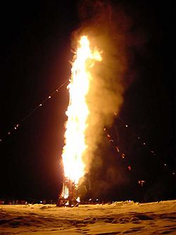 Funkenfeuer im Oberallgäu