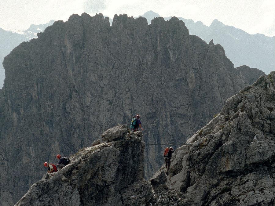 Klettersteig Kanzelwand : Länder sportklettersteig tagestour